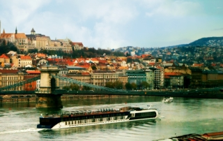 Budapest with River Cruise Ship